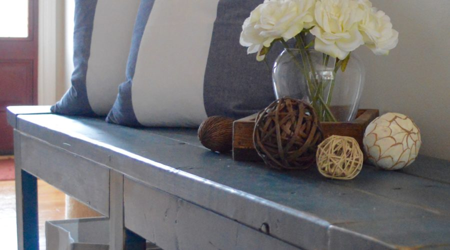 How to Style a Rustic Farmhouse Bench