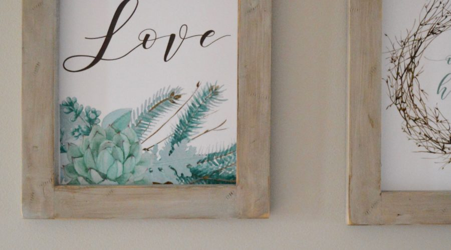 How to Make Rustic Farmhouse Picture Frames for Printables