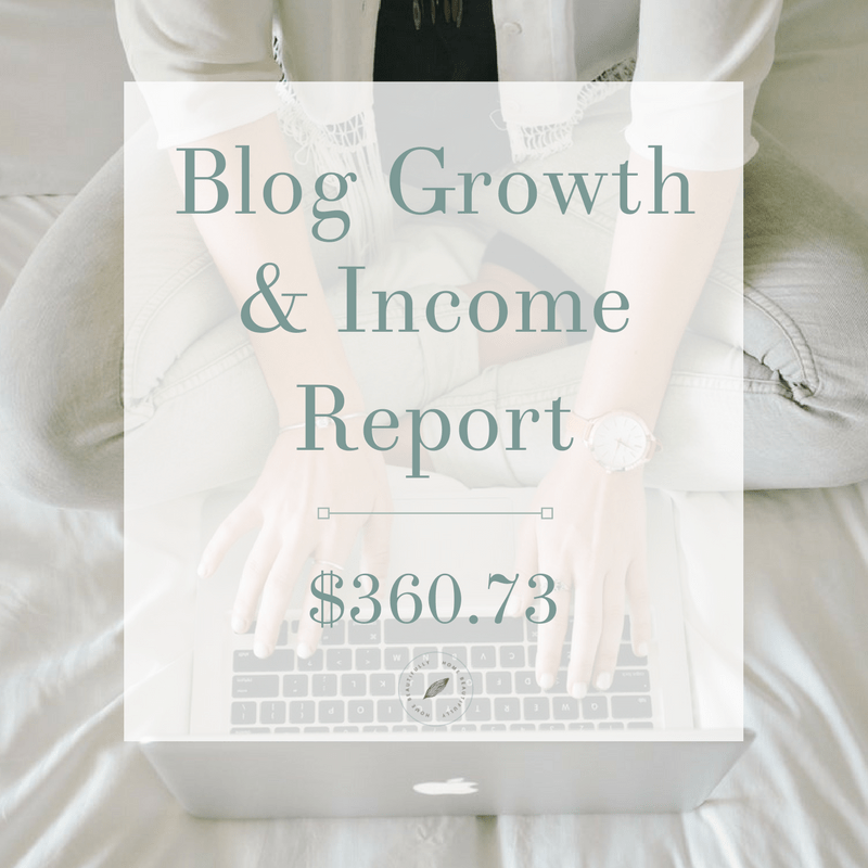 Blog Growth and Income Report July 2017