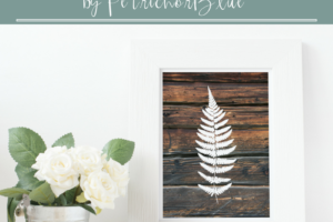 Download this PetrichorBlue Wooden Fern Print for Free!