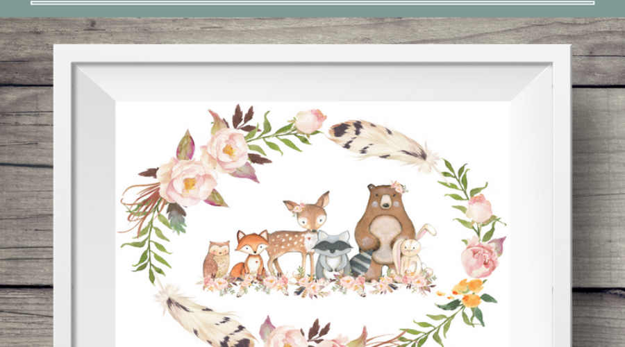 Exclusive (Free!) Woodland Art Print from Polished Celebrations