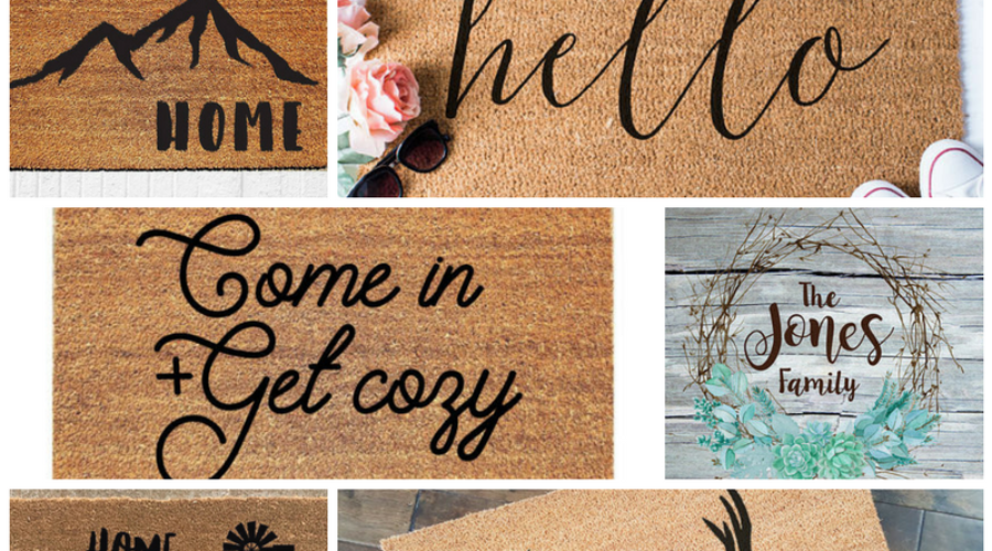 7 Gorgeous Rustic Welcome Mats and Doormats