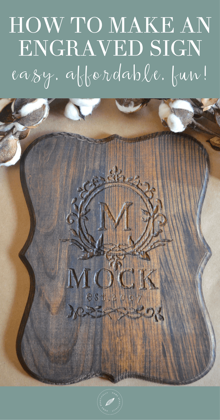 how to make a wood sign with a dremel