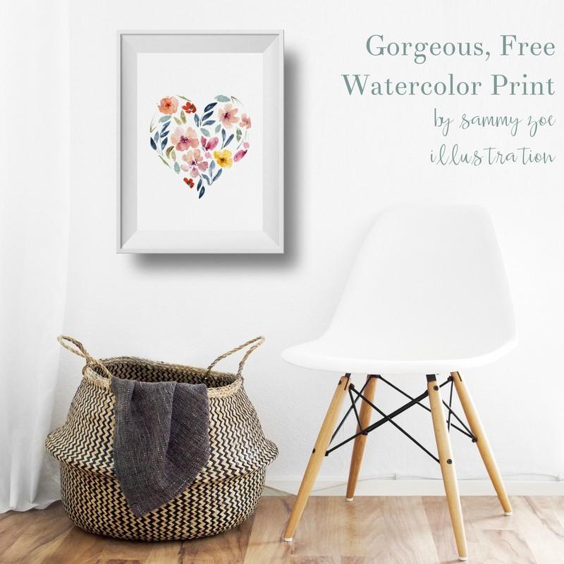 Free Watercolor Print