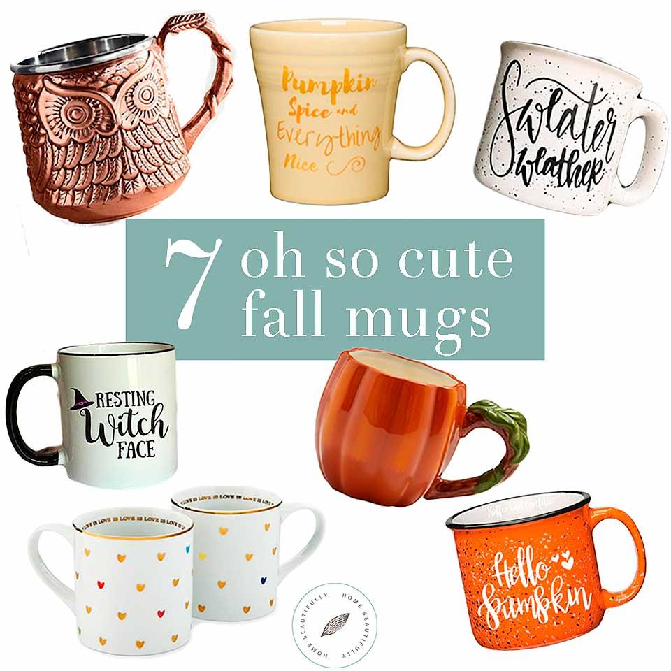 Enjoy these 7 cute fall mugs!