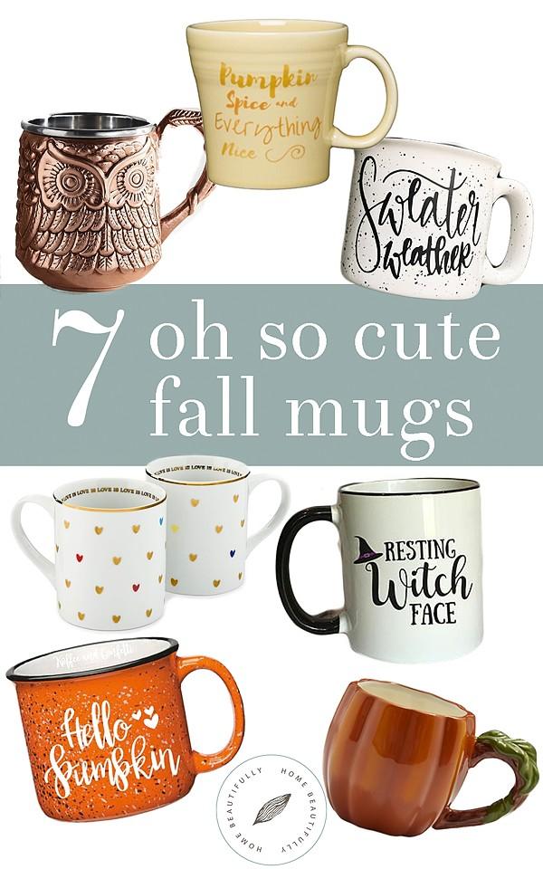 7 fall mugs
