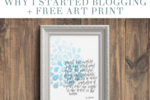 Why I Started Blogging + An Exclusive Art Print