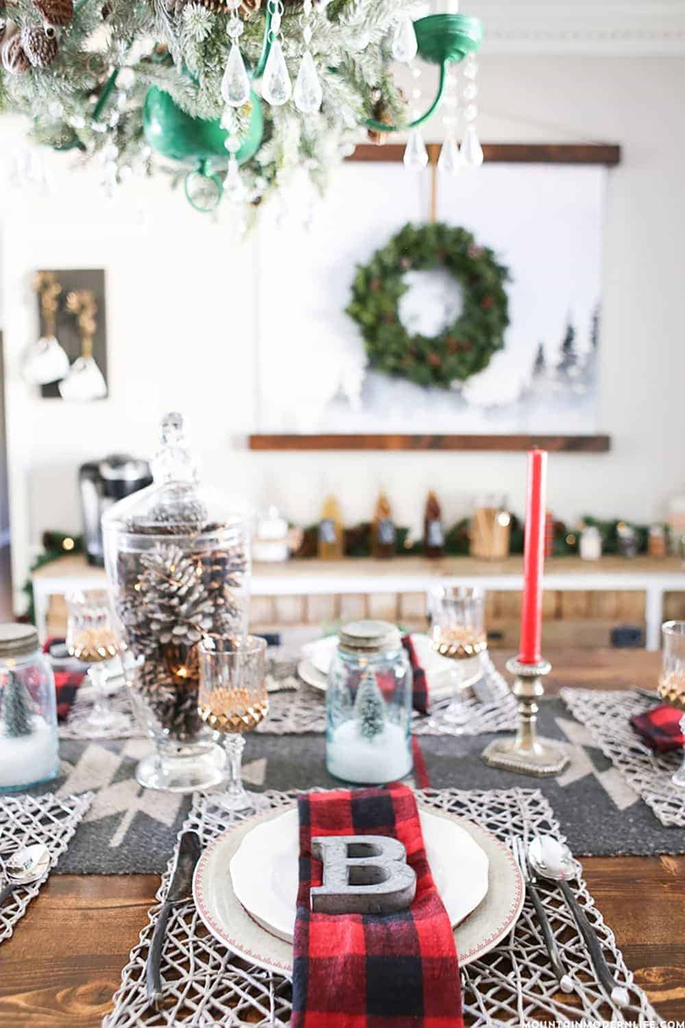 The best diy christmas table decorations Diy christmas table decorations