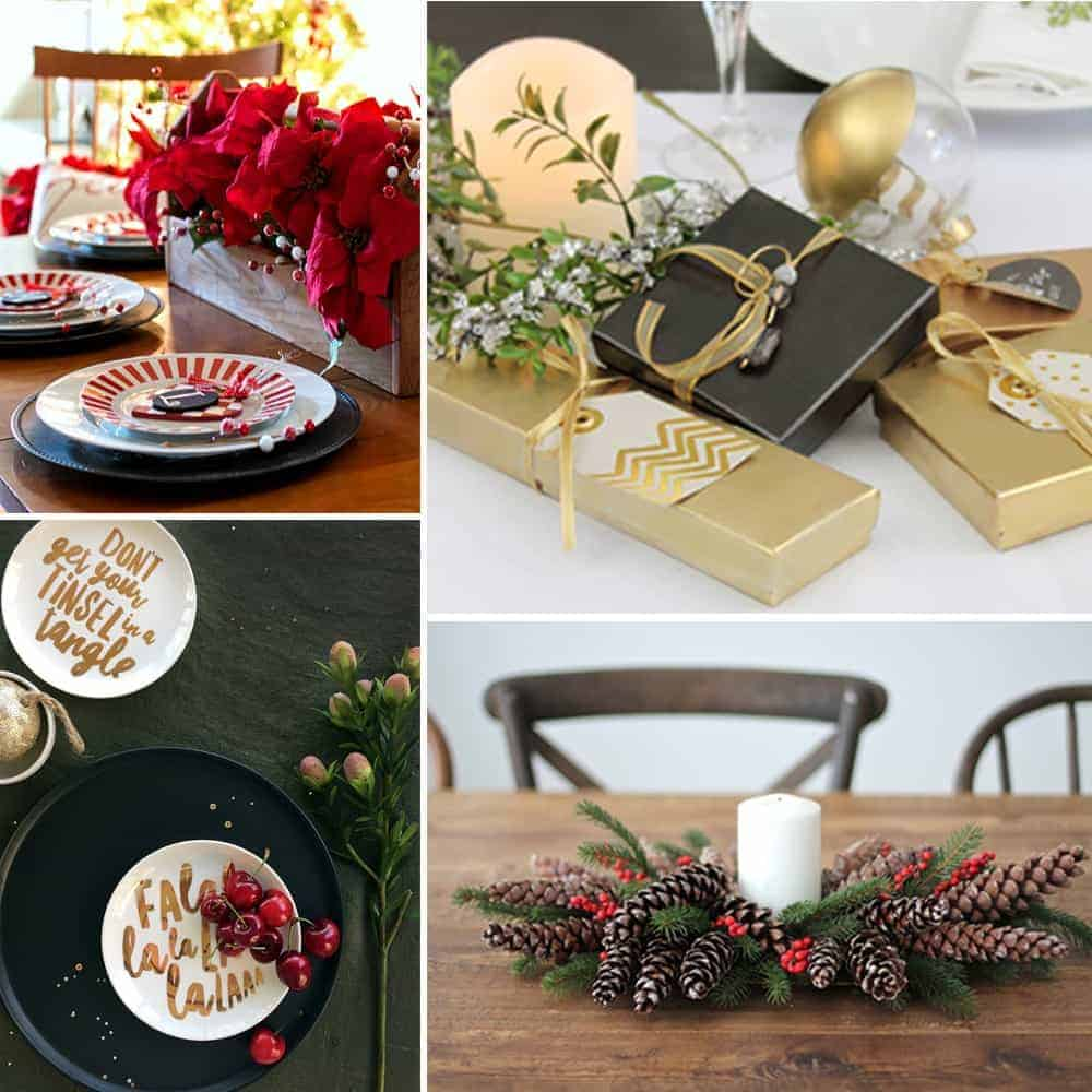DIY Christmas Table Decorations Blog Feature