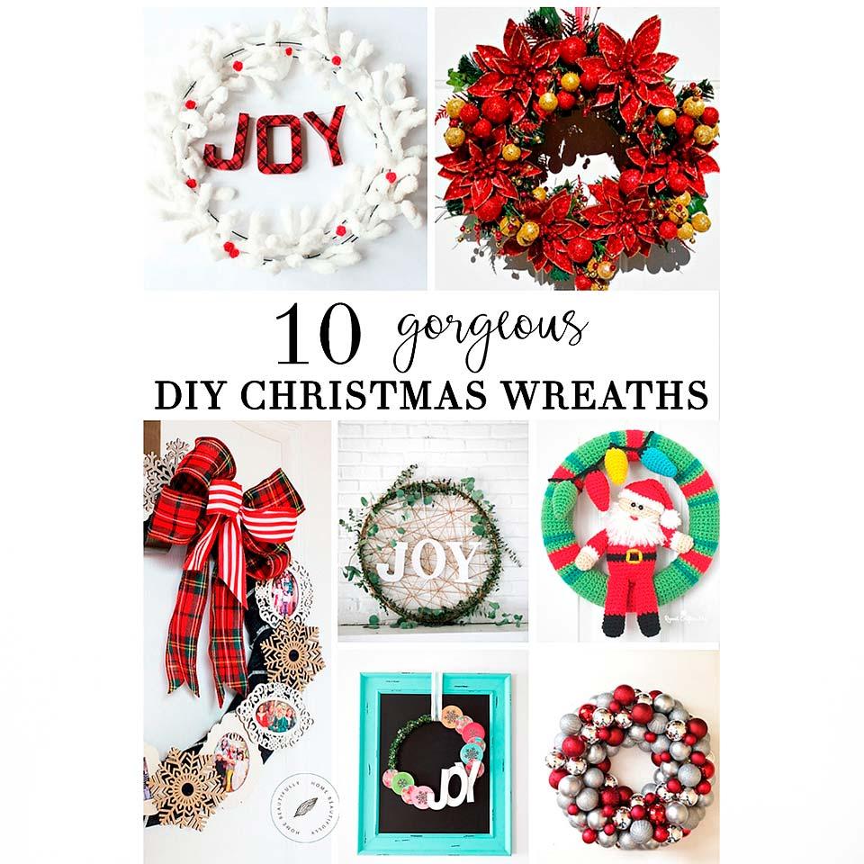 Enjoy these gorgeous DIY Christmas Wreaths!