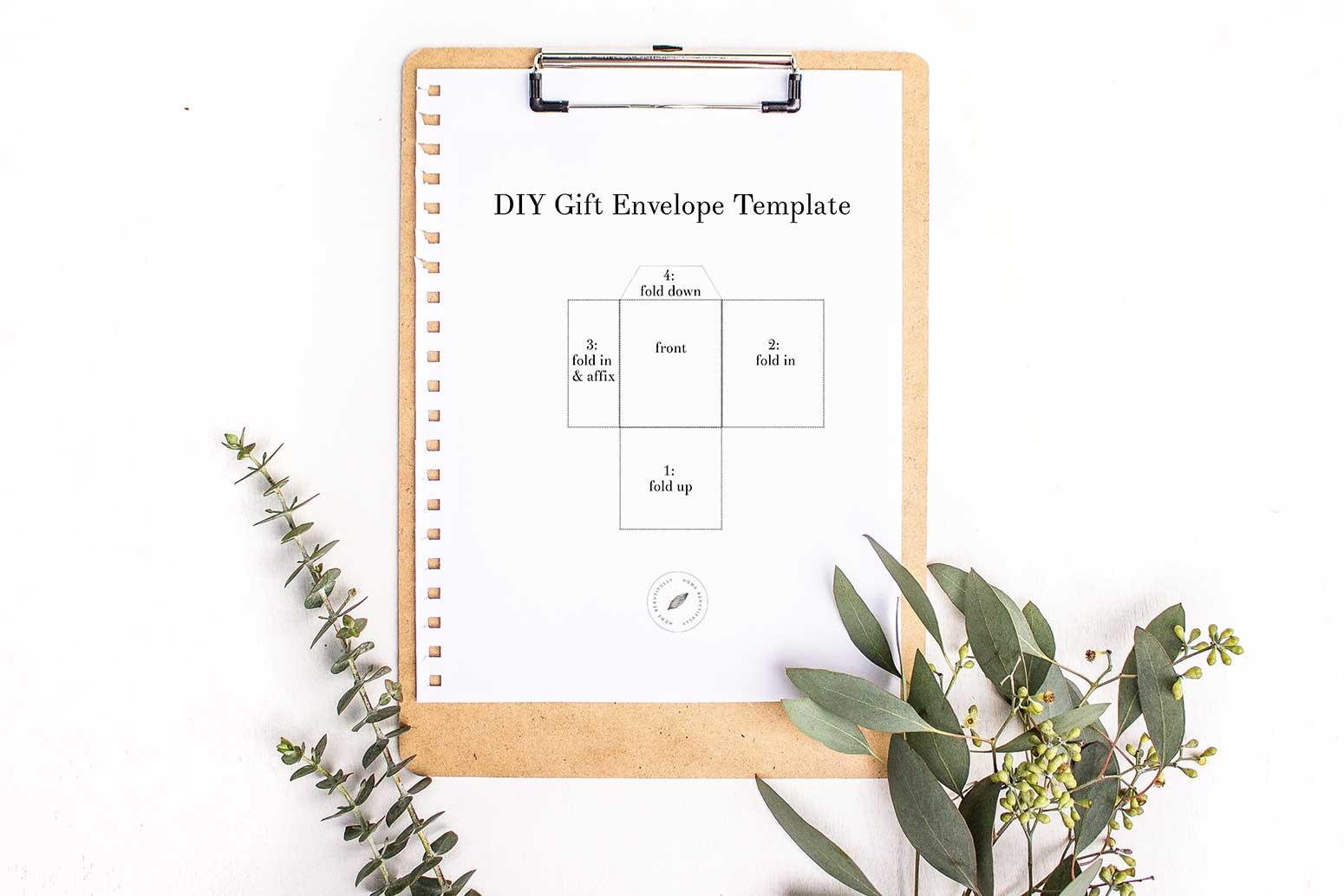 DIY Gift Envelope Template