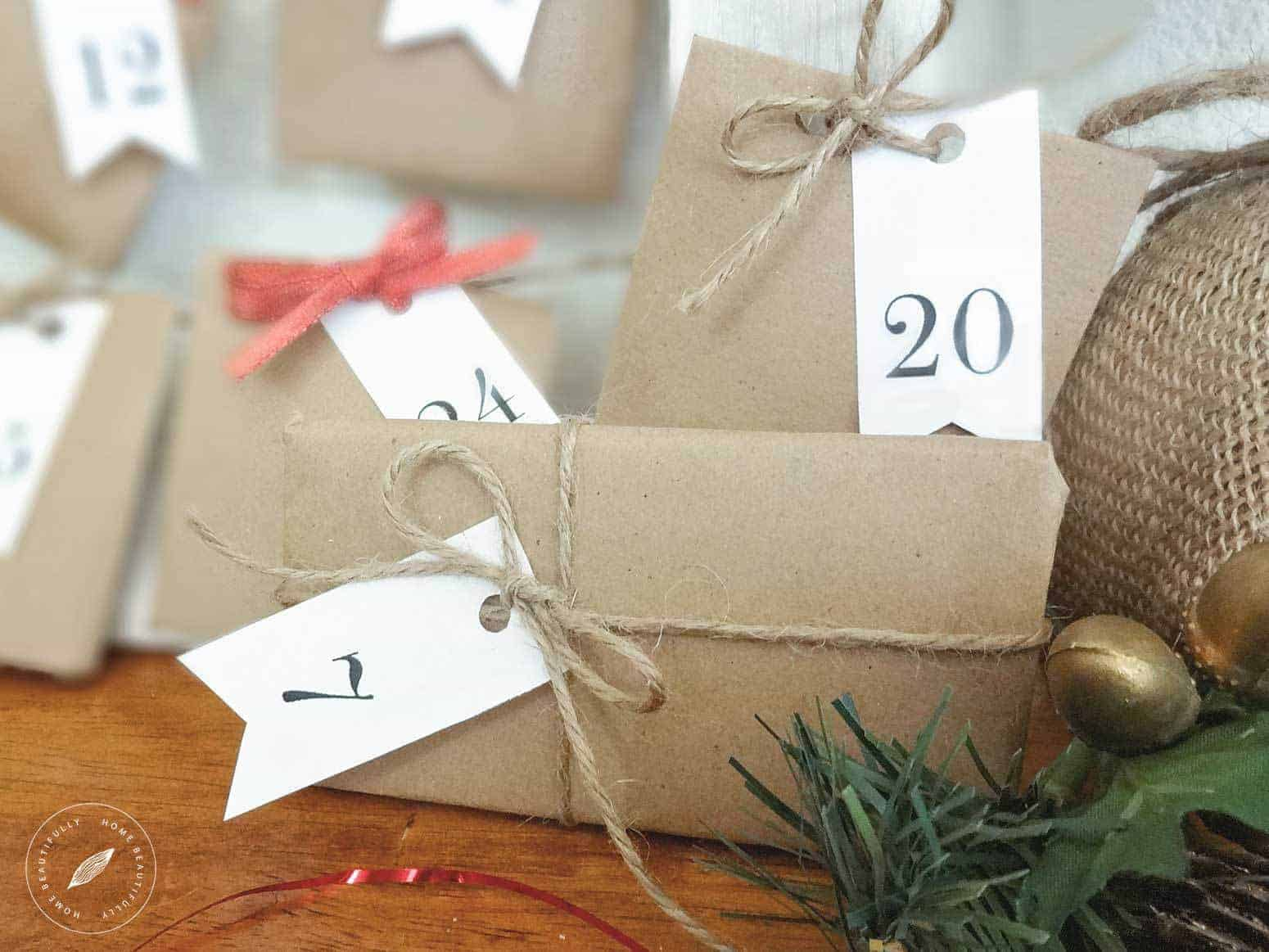 Rustic DIY Advent Calendar