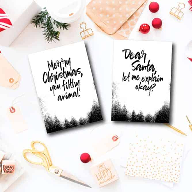 Easy DIY Christmas Cards