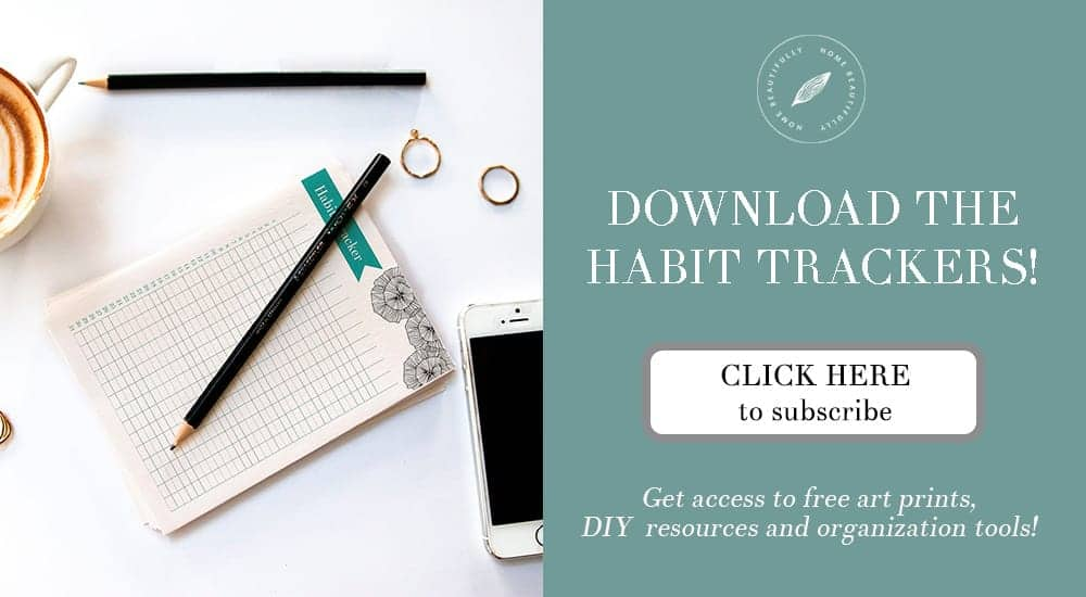Subscribe to download these habit trackers!