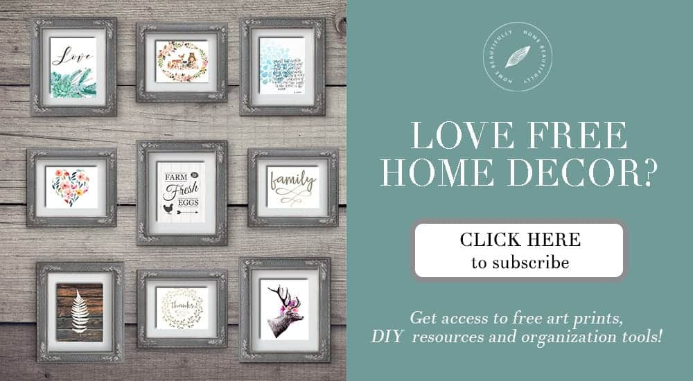 Jump to the Home Beautifully Resource Collection for lots of beautiful printables, organizational tools, and DIY resources!