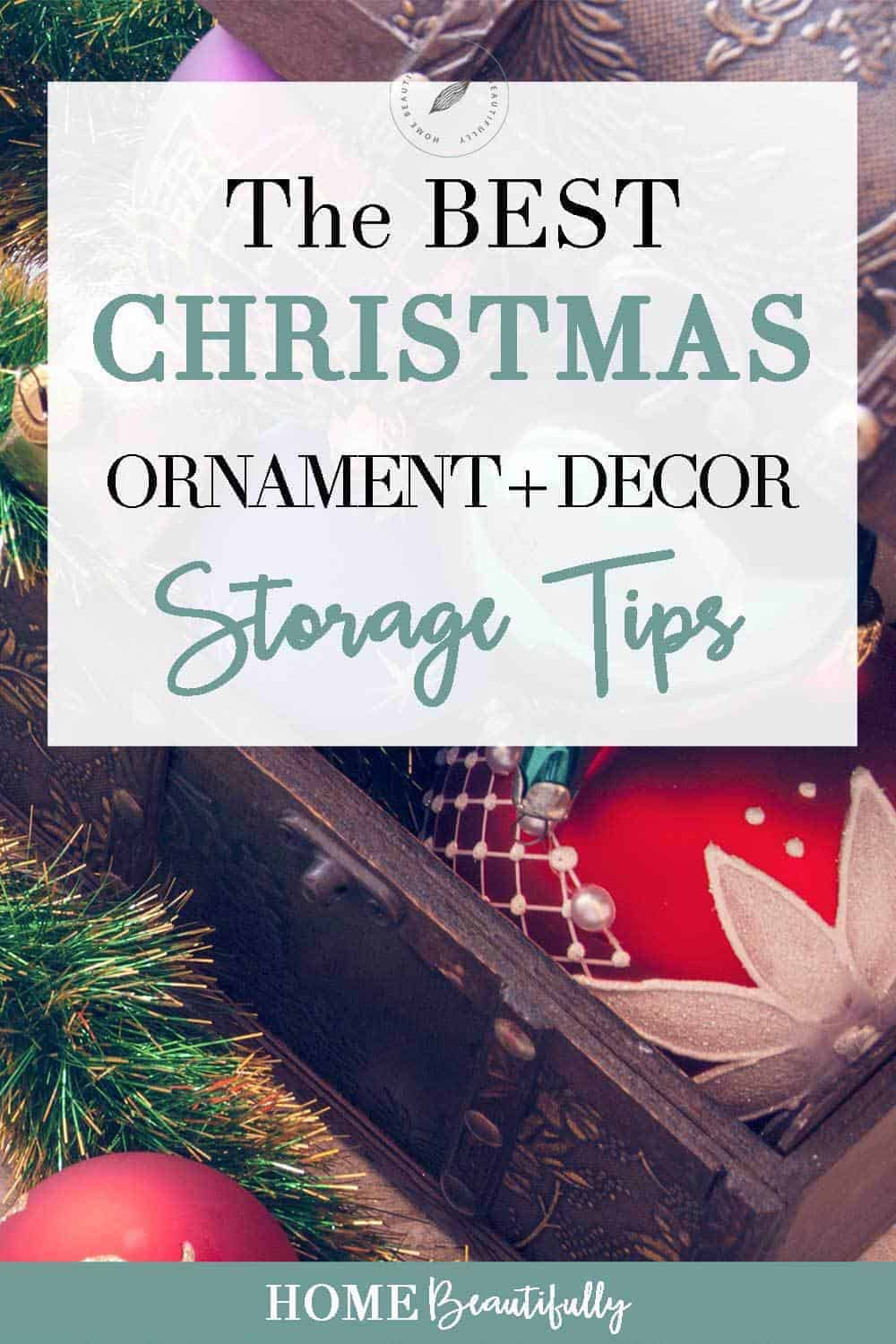 Holiday ornament storage solutions