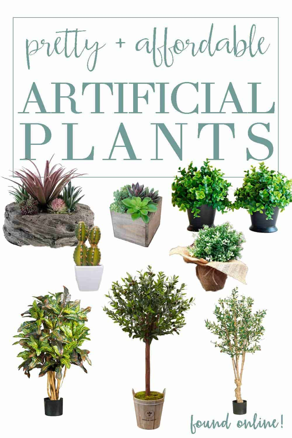 affordable artificial green plants