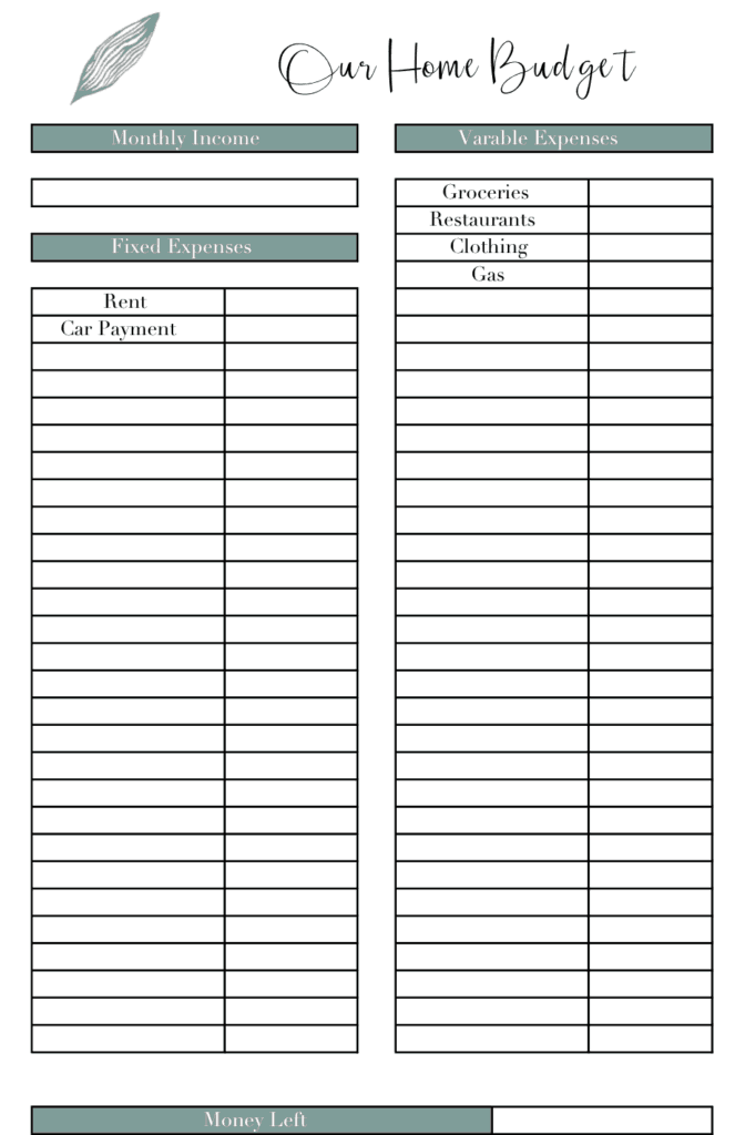 free budget template to organize your home finances home beautifully