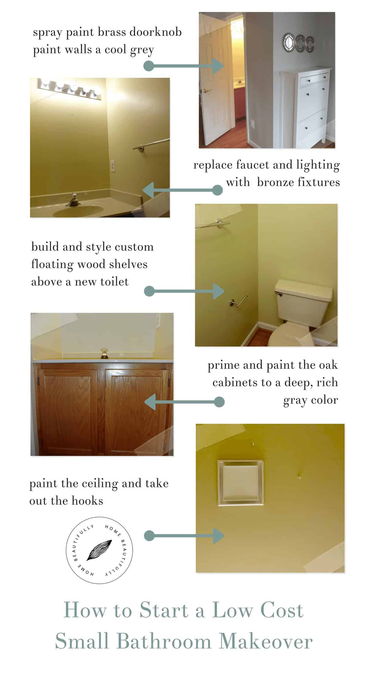 Cost To Add Small Bathroom To House: How To Start A Low Cost Small Bathroom Makeover
