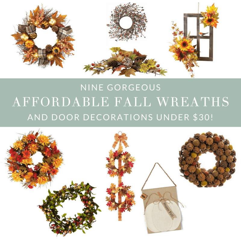 Affordable Fall Wreaths and Door Decorations