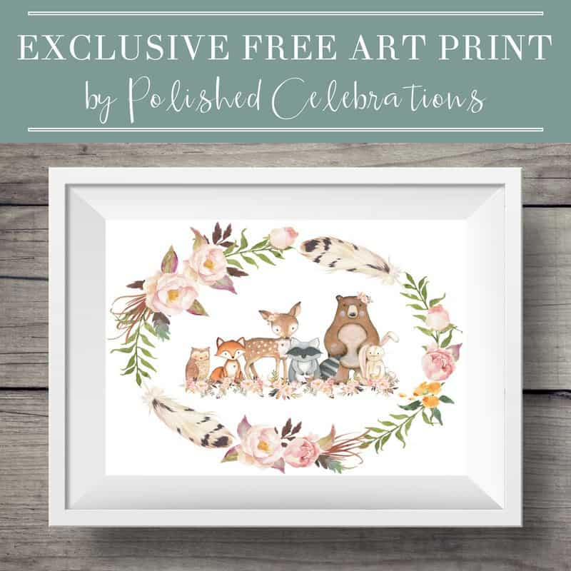 Woodland Art Print by Polished Celebrations