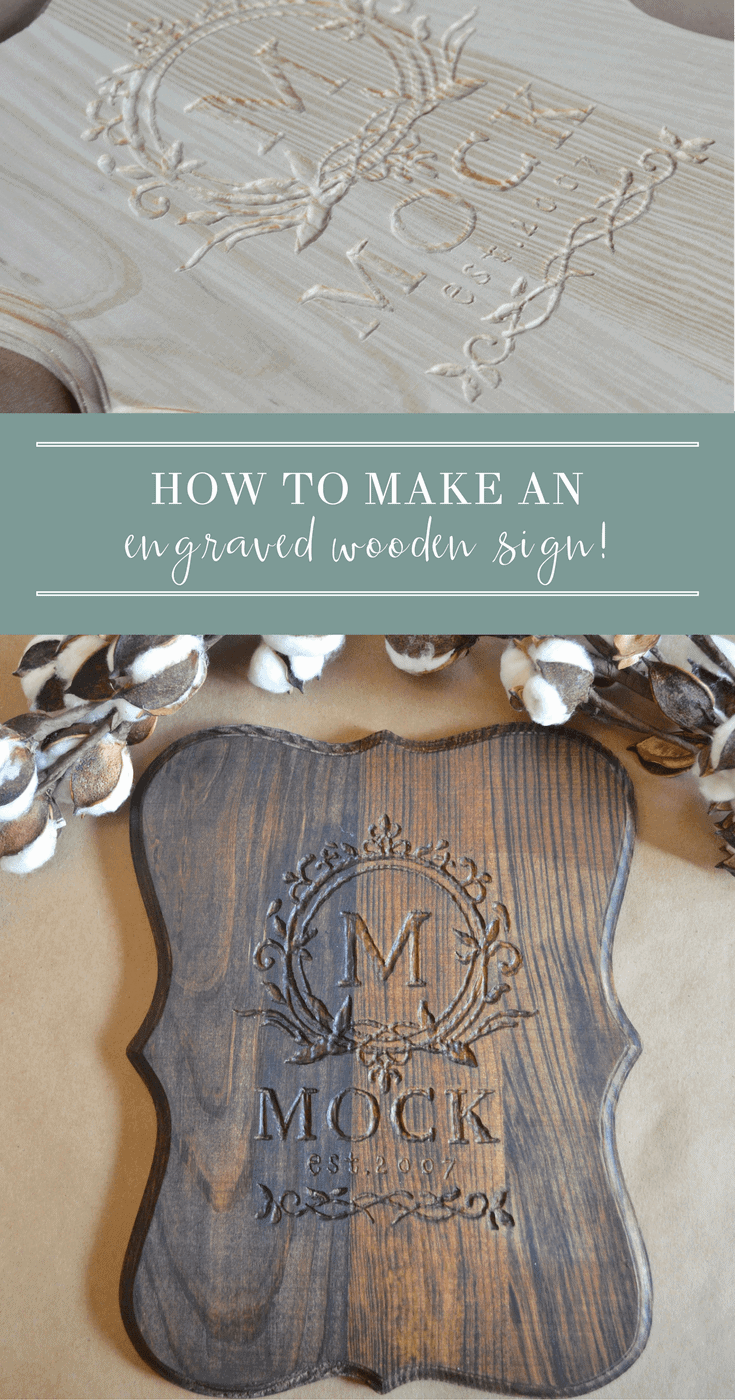 How To Make A Sign Engraving A Wood Monogram Sign With A Dremel