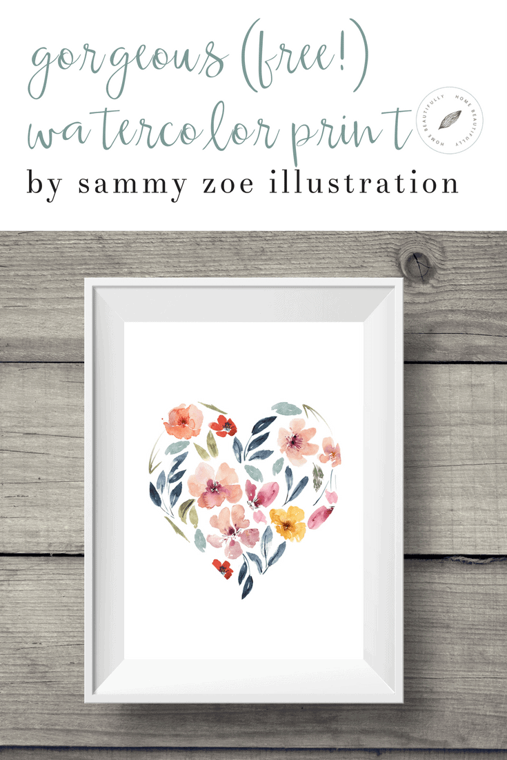 Downloadable Watercolor Print for Affordable Home Decor