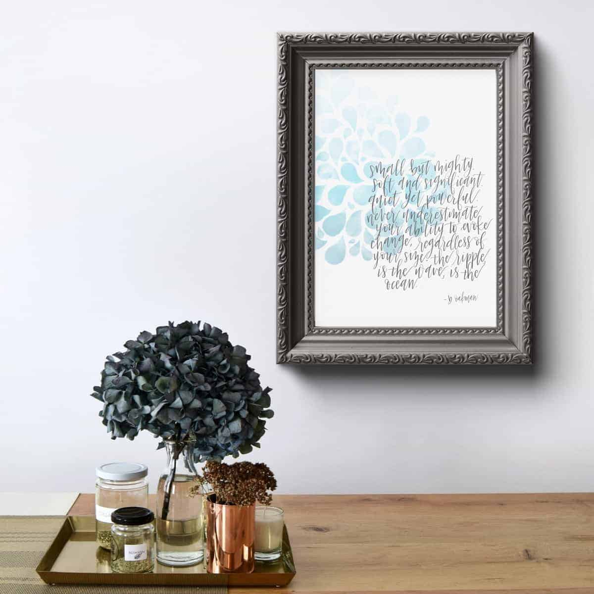 Caligraphy and Watercolor Beautiful Printable by Aliferous Letters
