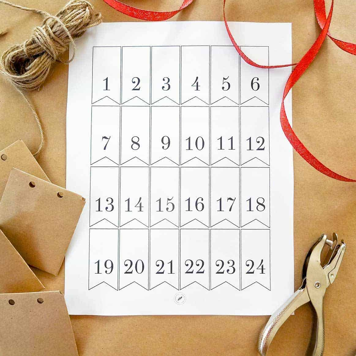 DIY Advent Calendar Tags