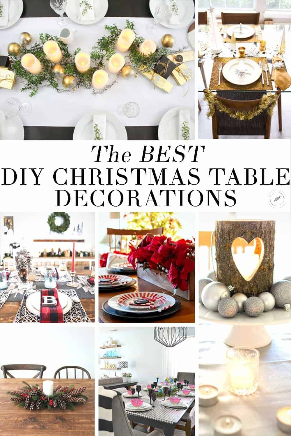 amazing diy christmas table decorations with make christmas table decorations
