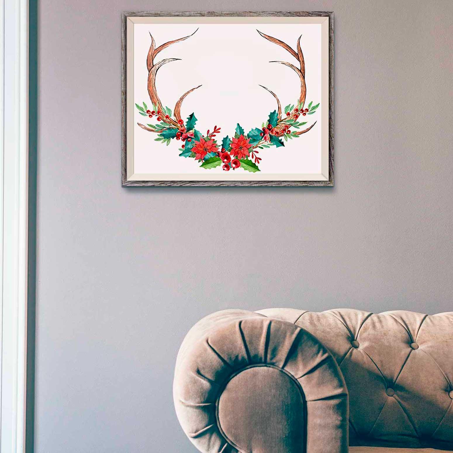 Rustic Christmas Art Print
