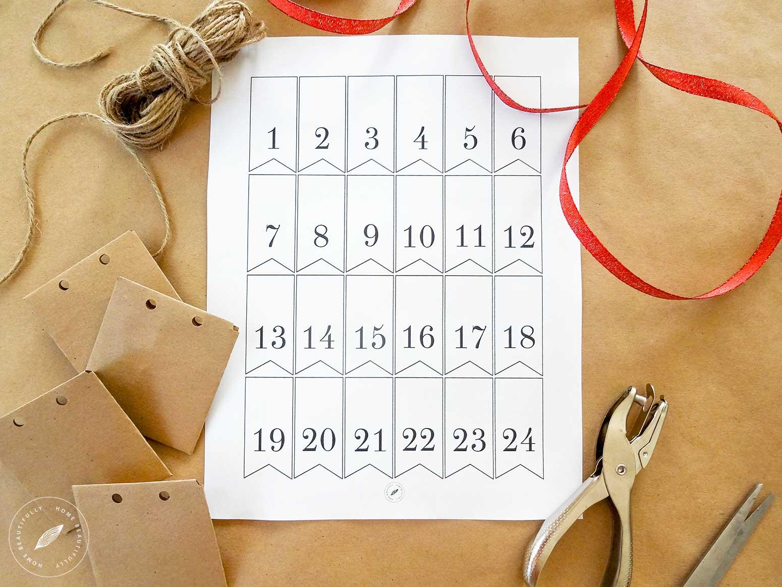 Rustic DIY Advent Calendar 1