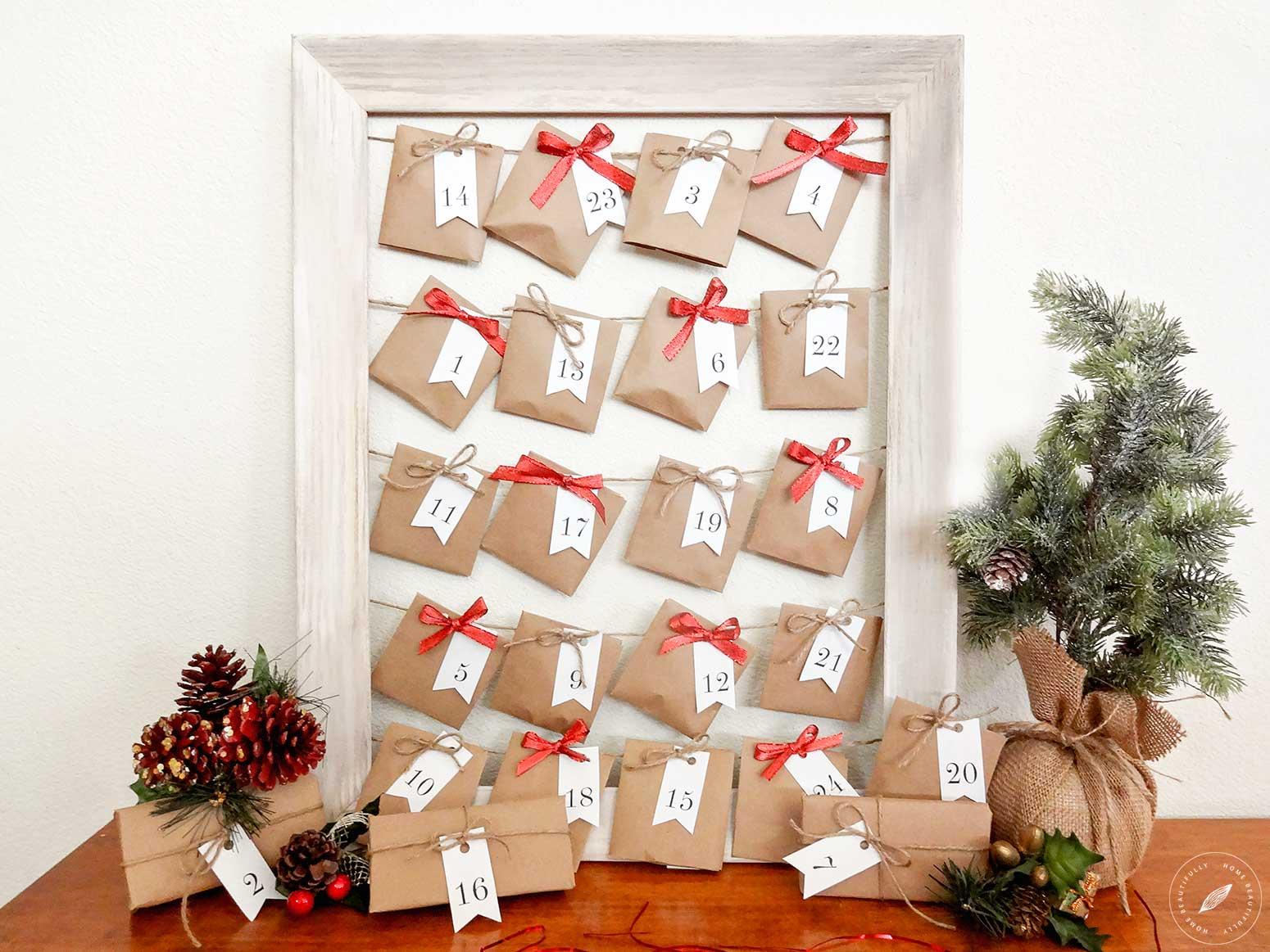 Create this beautiful DIY advent calendar!