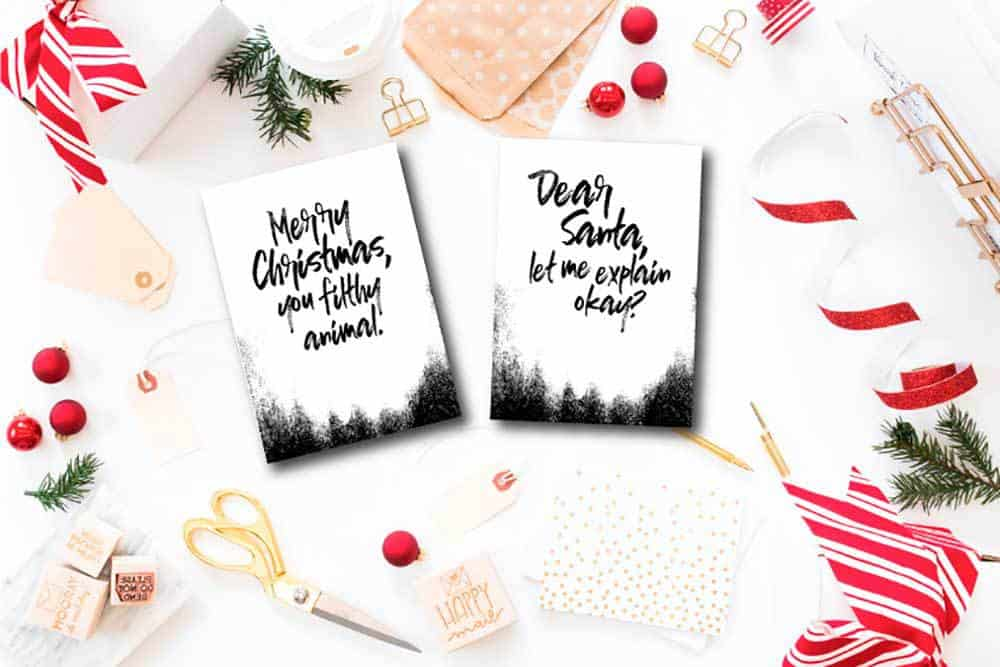 Easy diy christmas cards you can make at home on a budget for Easy diy christmas cards