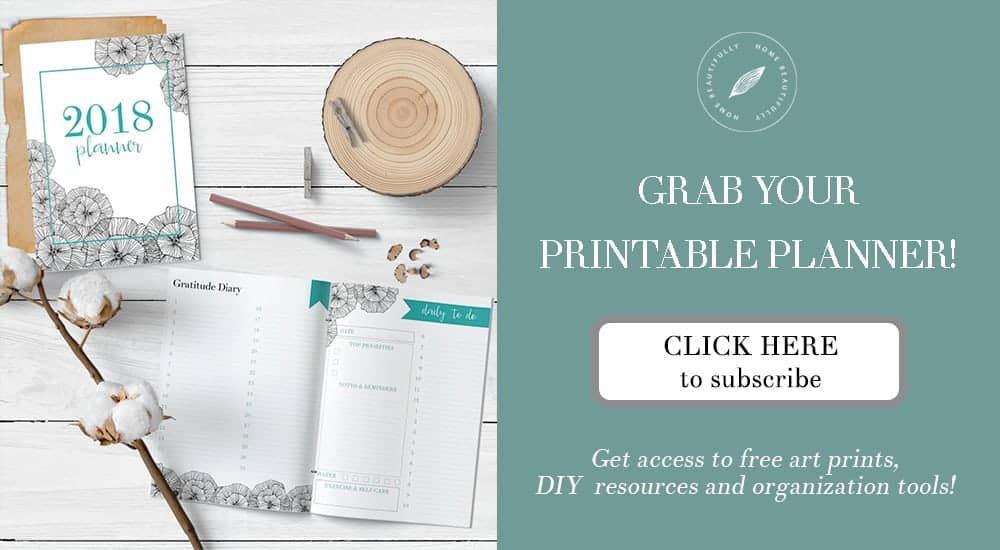 Free 2018 printable planner to download