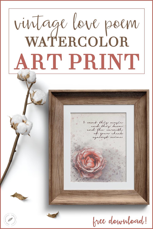 I Love You Poems + Valentines Day Decor Art Print
