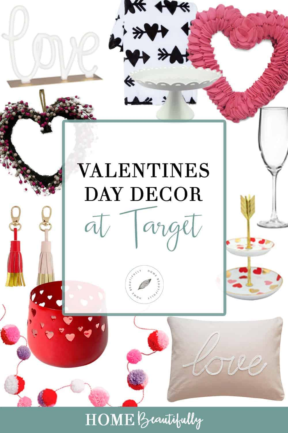 The cutest valentines day decor at target you can find for Valentine day at home