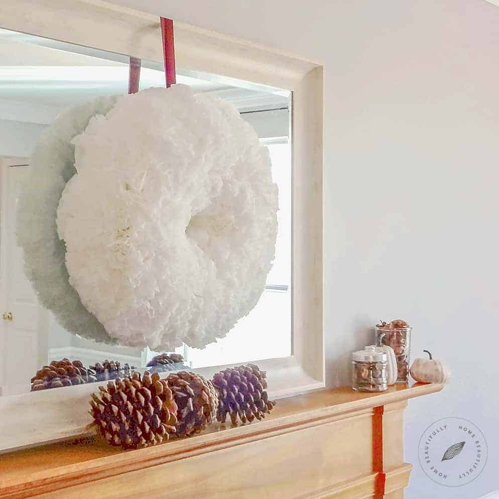 Coffee Filter DIY Wreath