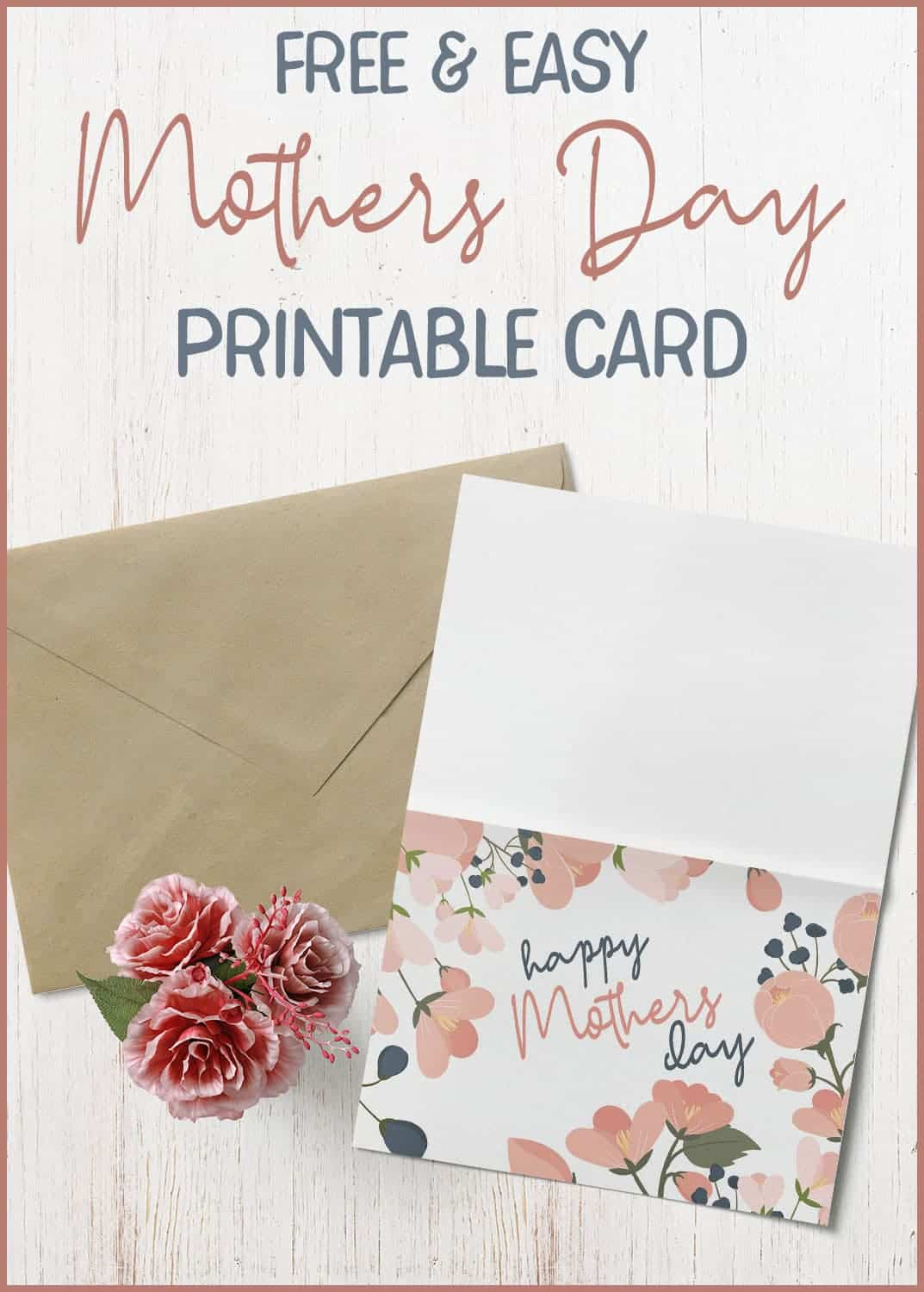 free and easy printable mothers day card to make  home