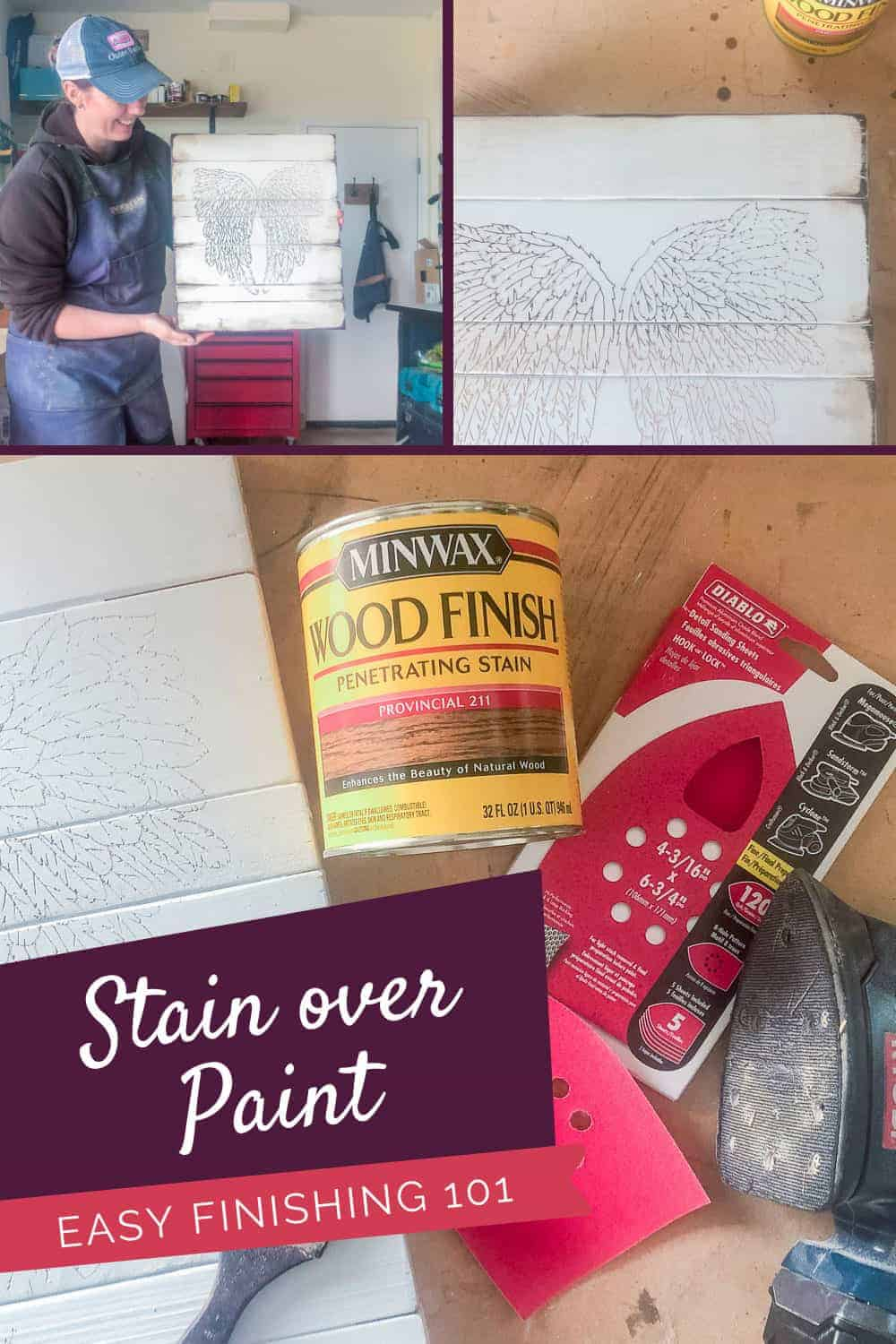 Use Of Stain Over Paint Diy Home Decor Amazing Reveal