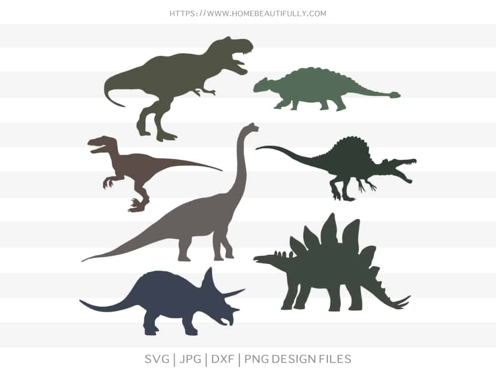 Dinosaur Cut File Collection 1 Home Beautifully Free Svg Files